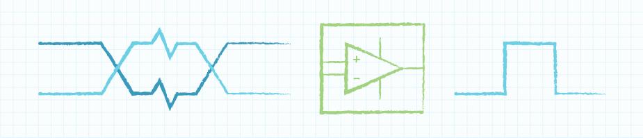 示例图:忽略两个信号共有噪音的差分接收器